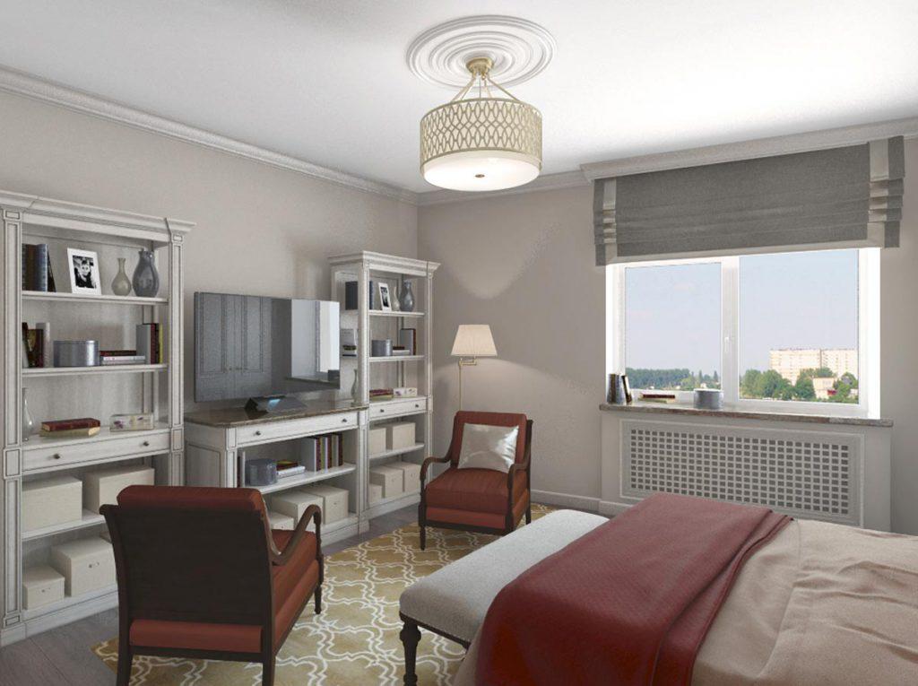 Спальня Дизайн-проект квартиры в стиле Арт Деко