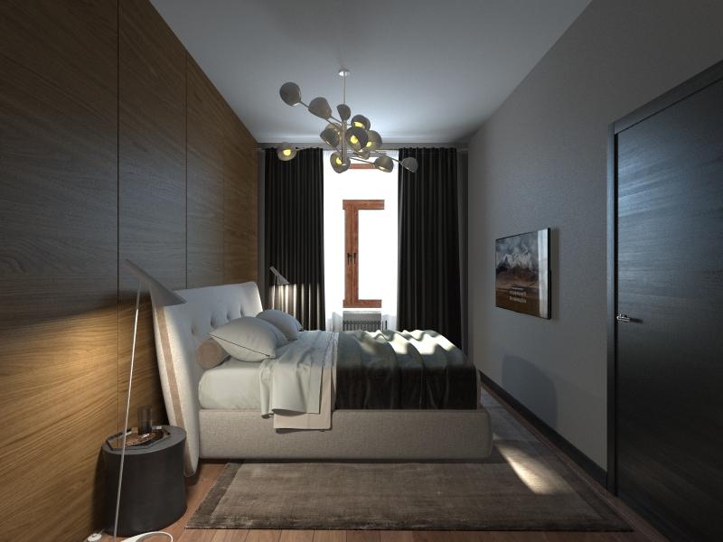 Спальня боковой ракурс