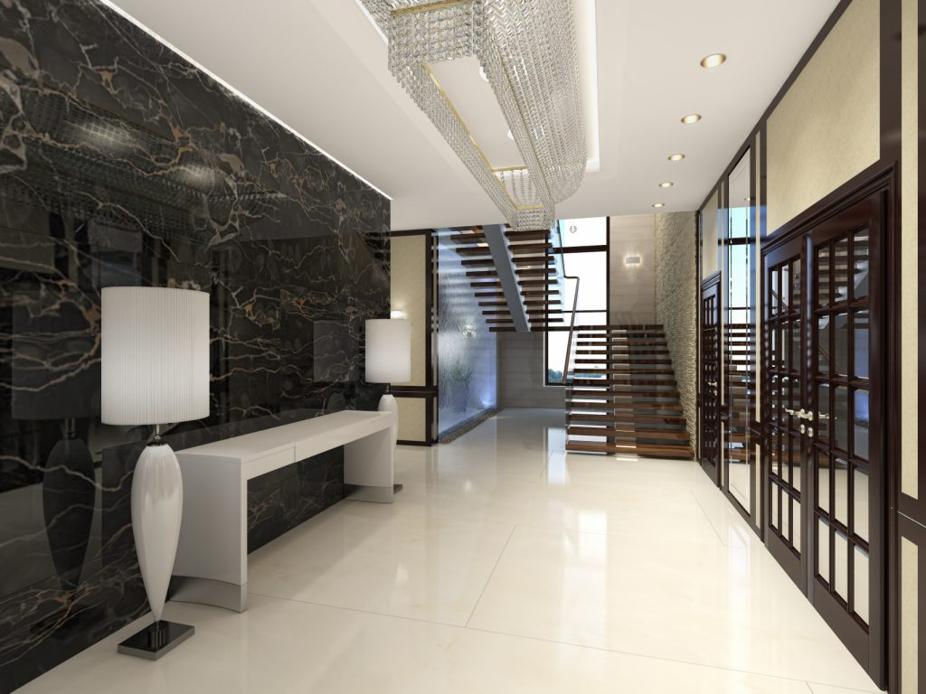Лестница в холле гостиницы